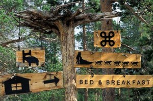 Photo Marco Moretti Finland, Lapland: Bed & breakfast sign